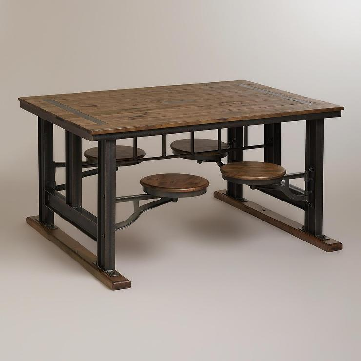 Dining table industrial style dining table - Industrial kitchen tables ...
