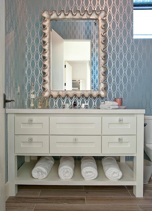 metallic wallpaper for half bath - photo #32