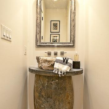 Stone Sink, Eclectic, bathroom, Glynis Wood Interiors