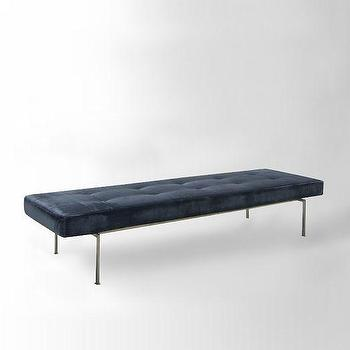 Seating - Lithe Tufted Bench | west elm - modern leather bench, tufted leather bench, modern tufted leather bench,