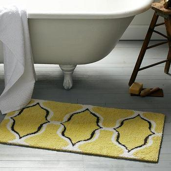 Bath - Ogee Chain Bath Mat | west elm - yellow black and white bath mat, yellow black and white geometric bath mat, yellow black and white chainlink bath mat,