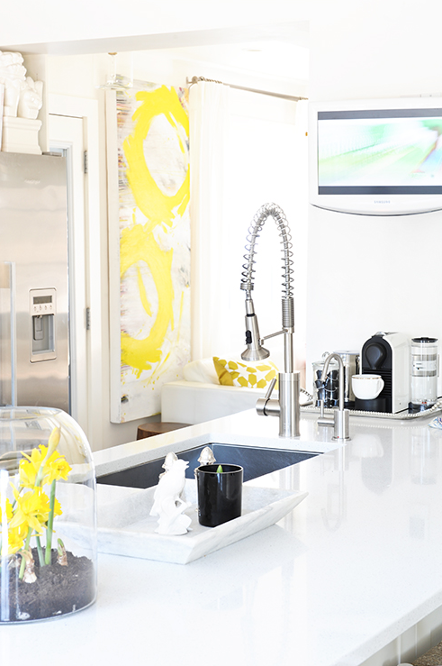 excellent white kitchen yellow accents | Yellow Accents - Contemporary - kitchen - Tracey Ayton ...