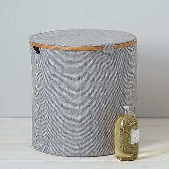Decor/Accessories - Round Hamper | west elm - round hamper, round bamboo hamper, blue bamboo hamper,