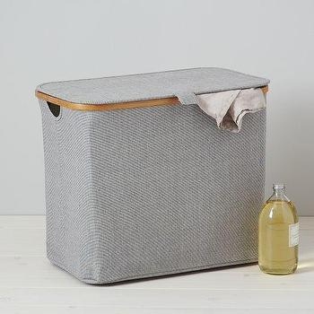 Decor/Accessories - Rectangular Hamper | west elm - rectangular hamper, bamboo hamper, recycled plastic and bamboo hamper,