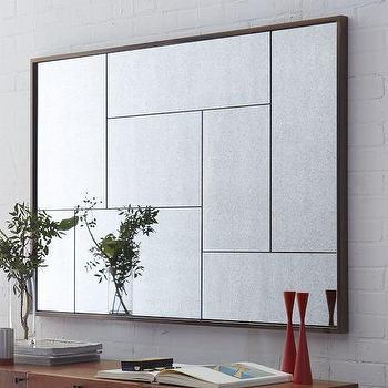 Mirrors - Multi-Panel Foxed Mirror | west elm - multi-paneled mirror, paneled mirror, modern paneled mirror,