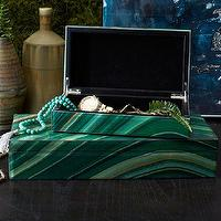 Decor/Accessories - Agate Jewelry Box | west elm - agate jewelry box, emerald green jewelry box, agate trinket box,