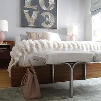 Wood Platform Bed Cottage Bedroom Elle Decor