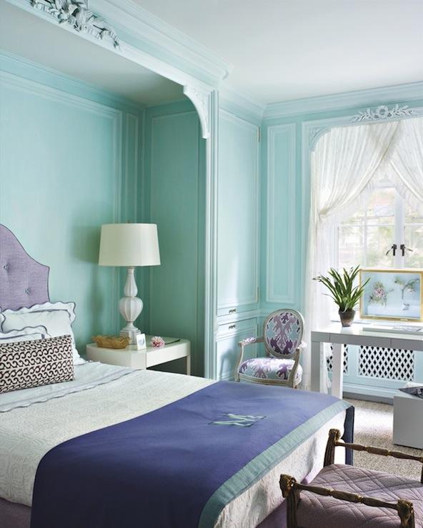 Tiffany Blue Bedroom Transitional Living Room Tom Scheerer