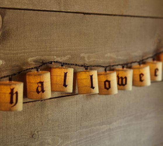 String Lights Pottery Barn : Happy Halloween String Lights - Pottery Barn