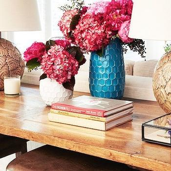 West Elm Hive Vase, Eclectic, living room, Domaine Home