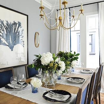 Navy Blue Dining Chairs, Transitional, dining room, Kerrisdale Design