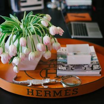 Hermes Tray, Contemporary, den/library/office, Waiting on Martha
