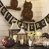 Miscellaneous - Trick Or Treat Banner | Pottery Barn - trick or treat banner, burlap trick or treat banner, halloween burlap banner,