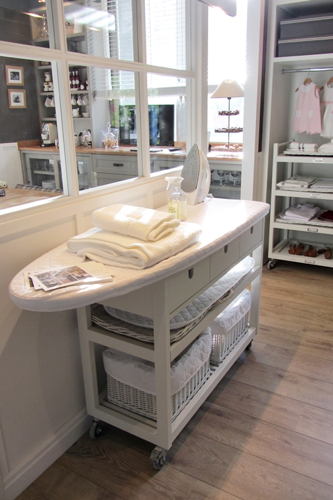 Laundry Room Ironing Board Transitional