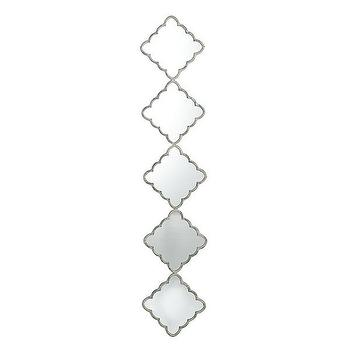 Mirrors - Scalloped Diamond Mirror - Five | Wisteria - scalloped diamond mirror, silver scalloped diamond mirror, stacked diamond mirror,