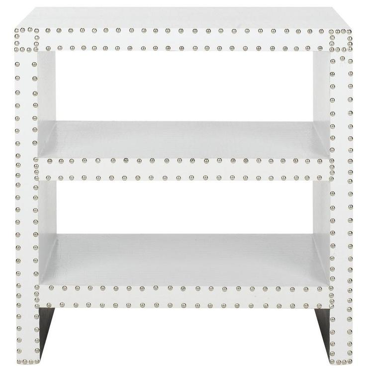 Safavieh Lacey White Side Table Overstock Com
