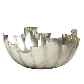 Decor/Accessories - Majestic Iron Bowl | Wisteria - silver iron bowl, modern silver bowl, hand-polished iron bowl,