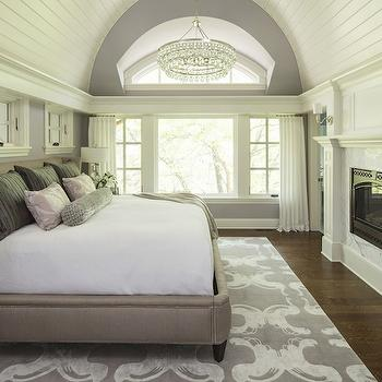 Barrel Ceiling, Transitional, bedroom, Sherwin Williams Ponder, Martha O'Hara Interiors