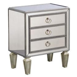 Tables - Mirrored Accent Chest | Overstock.com - mirrored accent chest, mirrored nightstand, mirrored chest,