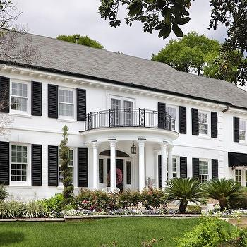 Georgian Style Home, Traditional, home exterior, Martha O'Hara Interiors