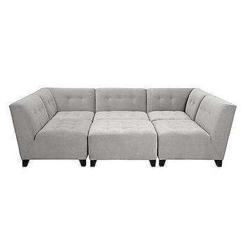 Seating - Vendome Modular Sectional | Z Gallerie - modular sectional, gray pit sectional, modern gray sectional, gray tufted modular sectional,
