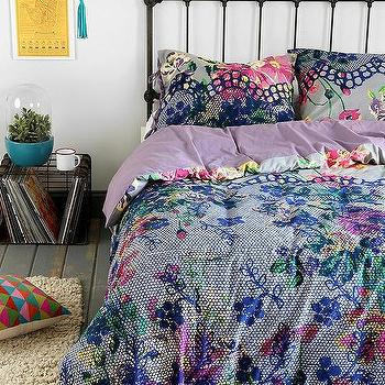 Bedding - Plum & Bow Edith Duvet Cover I Urban Outfitters - multi-colored duvet cover, floral duvet cover, multi-colored floral bedding,