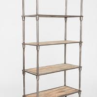 Storage Furniture - Heritage Bookshelf I Urban Outfitters - industrial bookshelf, metal and wood bookshelf, industrial bookshelf on castors,