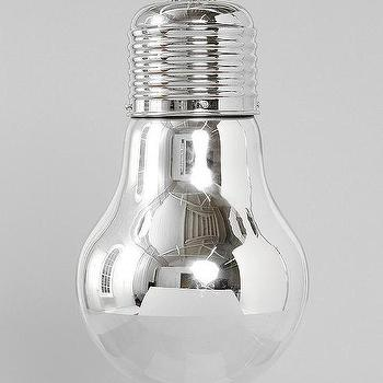 Lighting - Gliese Pendant I Urban Outfitters - silver glass bulb, industrial pendant, silver industrial pendant,