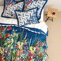 Bedding - Felicity Duvet I anthropologie.com - blue floral bedding, multi-colored floral bedding, multi-colored floral duvet cover,