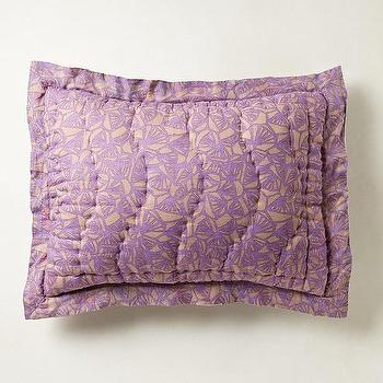 Bedding - Hullabaloo Shams I anthropologie.com - lilac pillow sham, lilac bedding, lilac bed linens,