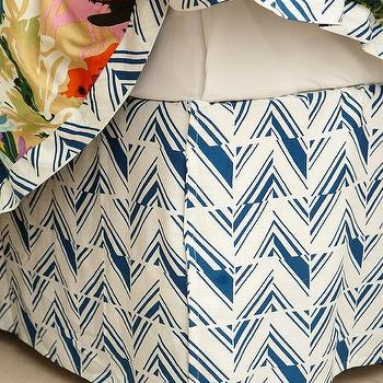Bedding - Felicity Bedskirt I anthropologie.com - navy and white bed skirt, navy geometric bed skirt, navy and white geometric bed skirt,