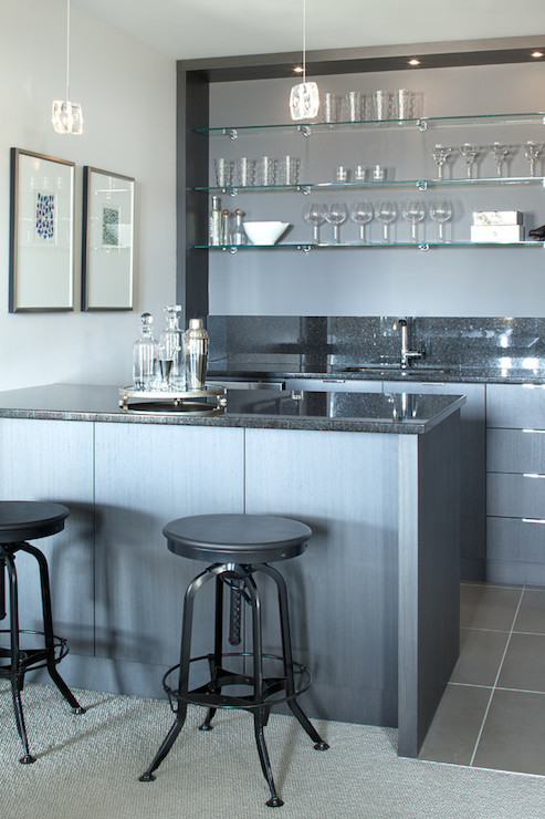 Wet Bar Ideas Contemporary Basement Kelly Deck Design