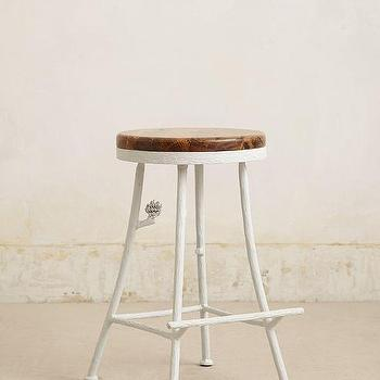 Seating - Forest Counter Stool I anthropologie.com - white branch counter stool, branch based counter stool, white iron branch counter stool,