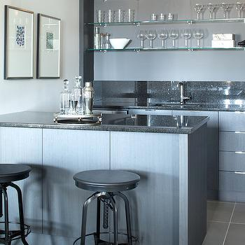 Wet Bar Ideas, Contemporary, basement, Kelly Deck Design
