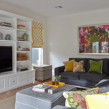 Dark Gray Sectional, Contemporary, living room, Diane Bergeron Interiors