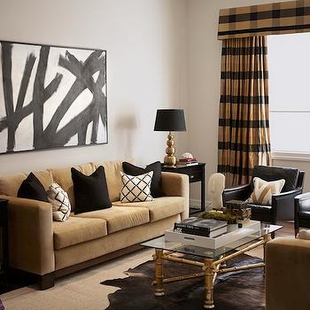 Tartan curtains contemporary living room diane Black and gold living room decor