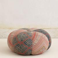 Seating - Handwoven Sawan Pouf I anthropologie.com - pouf, red and blue pouf, handwoven sawan pouf,
