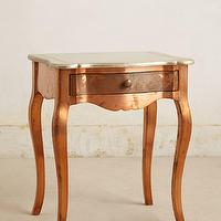Tables - Cupric Nightstand I anthropologie.com - copper nightstand, copper side table, scalloped copper nightstand,
