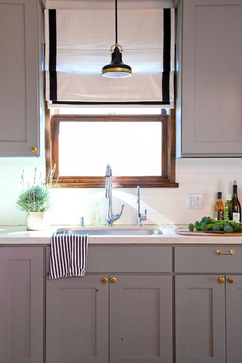 Gray kitchen cabinets transitional kitchen benjamin moore eagle rock rosa beltran design - Gray kitchen cabinets benjamin moore ...