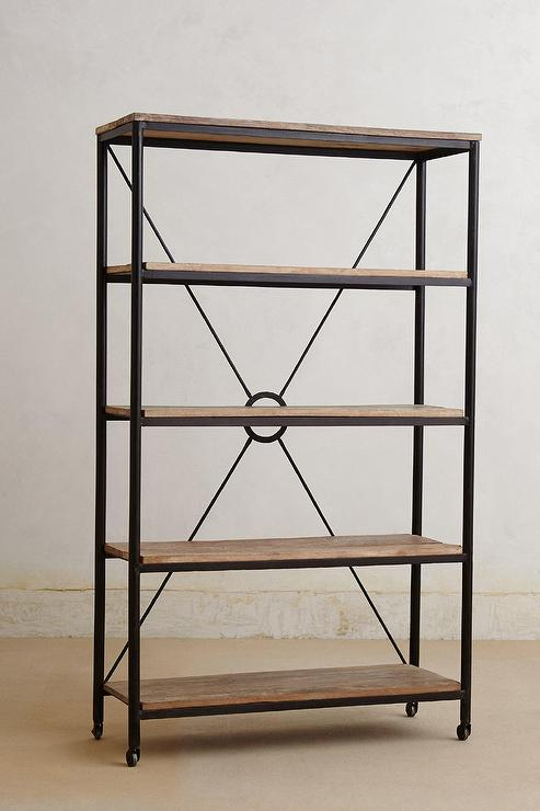 distressed utility bookcase tall i