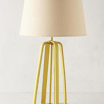 Lighting - Saddle Strap Lamp Base I anthropologie.com - yellow leather lamp, yellow saddle strap lamp base, yellow leather strapped lamp base,