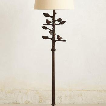 Lighting - Sibley Floor Lamp I anthropologie.com - iron branch floor lamp, branch and bird floor lamp, iron bird and tree floor lamp,