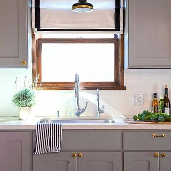 Gray KItchen Cabinets, Transitional, kitchen, Benjamin Moore Eagle Rock, Rosa Beltran Design