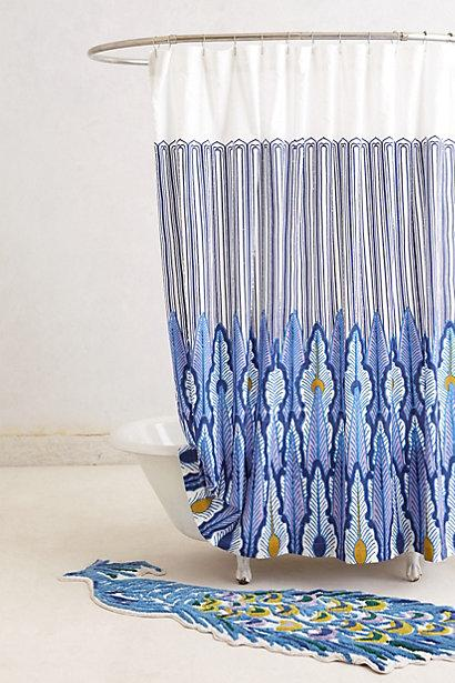 peacock quills shower curtain i. Black Bedroom Furniture Sets. Home Design Ideas