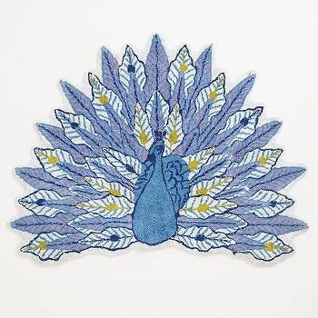 Celestial Peacock Bathmat I anthropologie.com