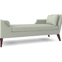 Seating - THE SANDRA NAPPER CHAISE | Plum Furniture - contemporary chaise, contemporary chaise lounge, gray contemporary chaise lounge,