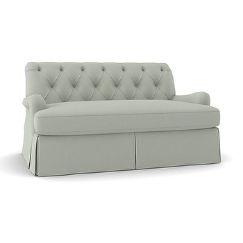 Seating - THE TUFTED LOVESEAT | Plum Furniture - tufted loveseat, button tufted loveseat, tufted skirted loveseat,