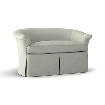 Seating - THE HAPPY LOVESEAT | Plum Furniture - loveseat, skirted loveseat, curved back skirted loveseat,