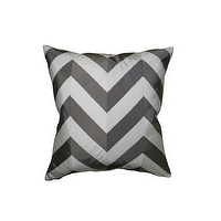 Pillows - THE TIPPY PILLOW | Plum Furniture - gray chevron pillow, gray and white chevron pillow, gray and white zig zag pillow,