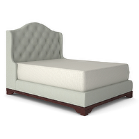 Beds/Headboards - THE TUFTED ARCHIE BED - QUEEN SIZE | Plum Furniture - tufted bed, tufted wing back bed, diamond button tufted bed,